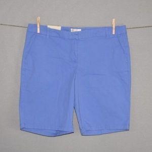 "J.CREW Blue 10"" Bermuda Walking Shorts NEW"